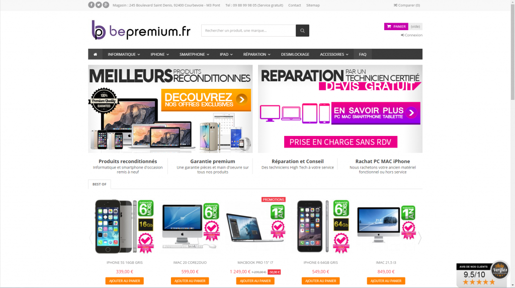 Bepremium Home page